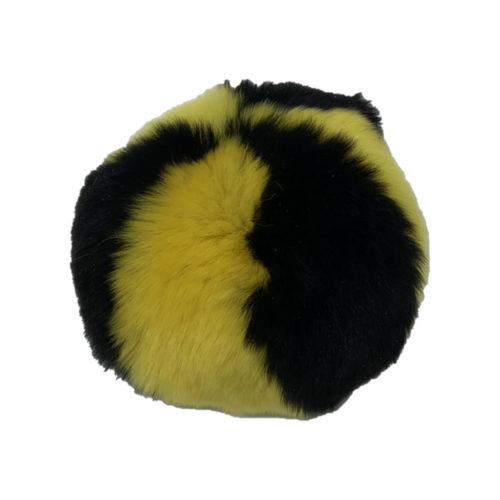 Balle antistress eco jaune Noir caresse orylag