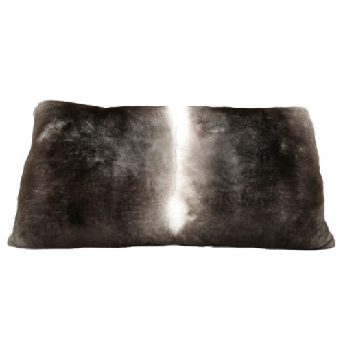 Coussin Rectangle gris naturel recto Caresse Orylag