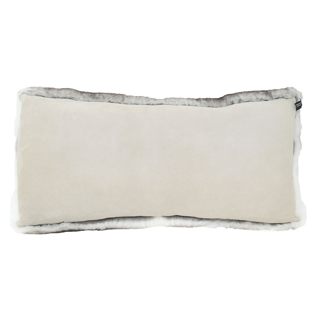 Coussin Rectangle gris naturel verso Caresse Orylag