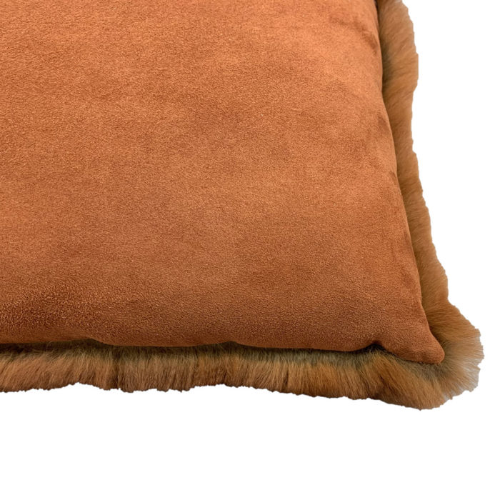 Coussin Rectangle rouille verso Caresse Orylag