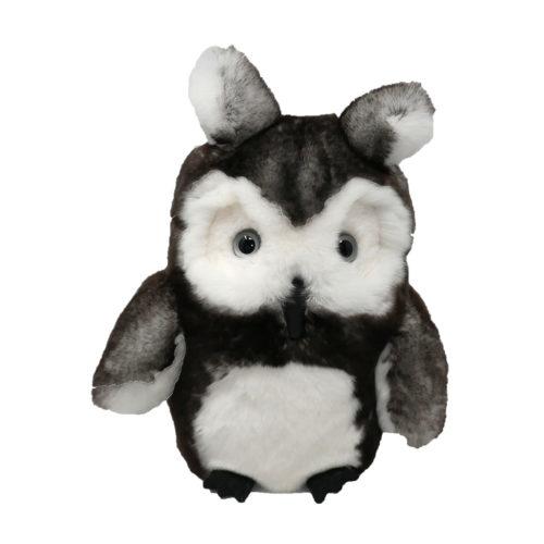Peluche Hibou gris face Caresse Orylag 1