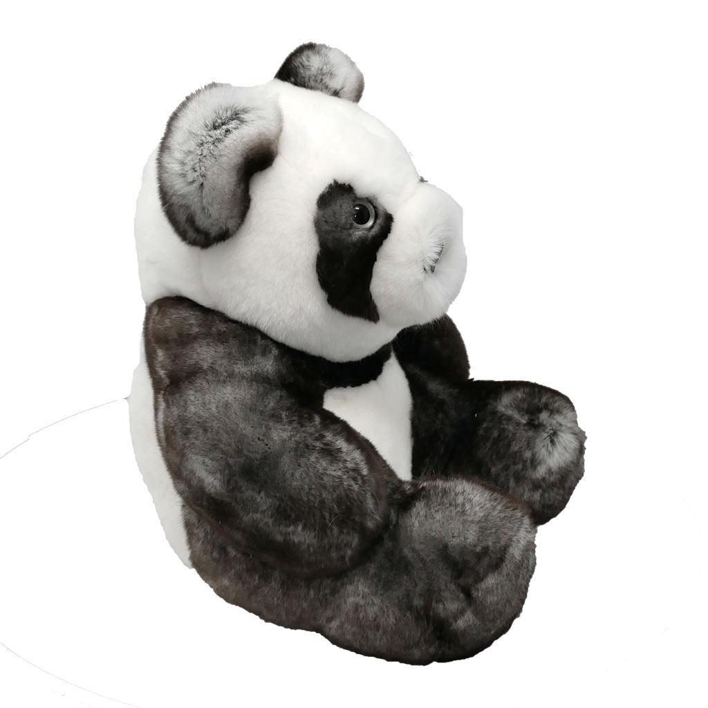 Peluche Panda gris blanc profil Caresse Orylag 2