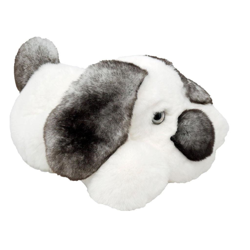Peluche chien dormeur blanc gris S Caresse Orylag 2
