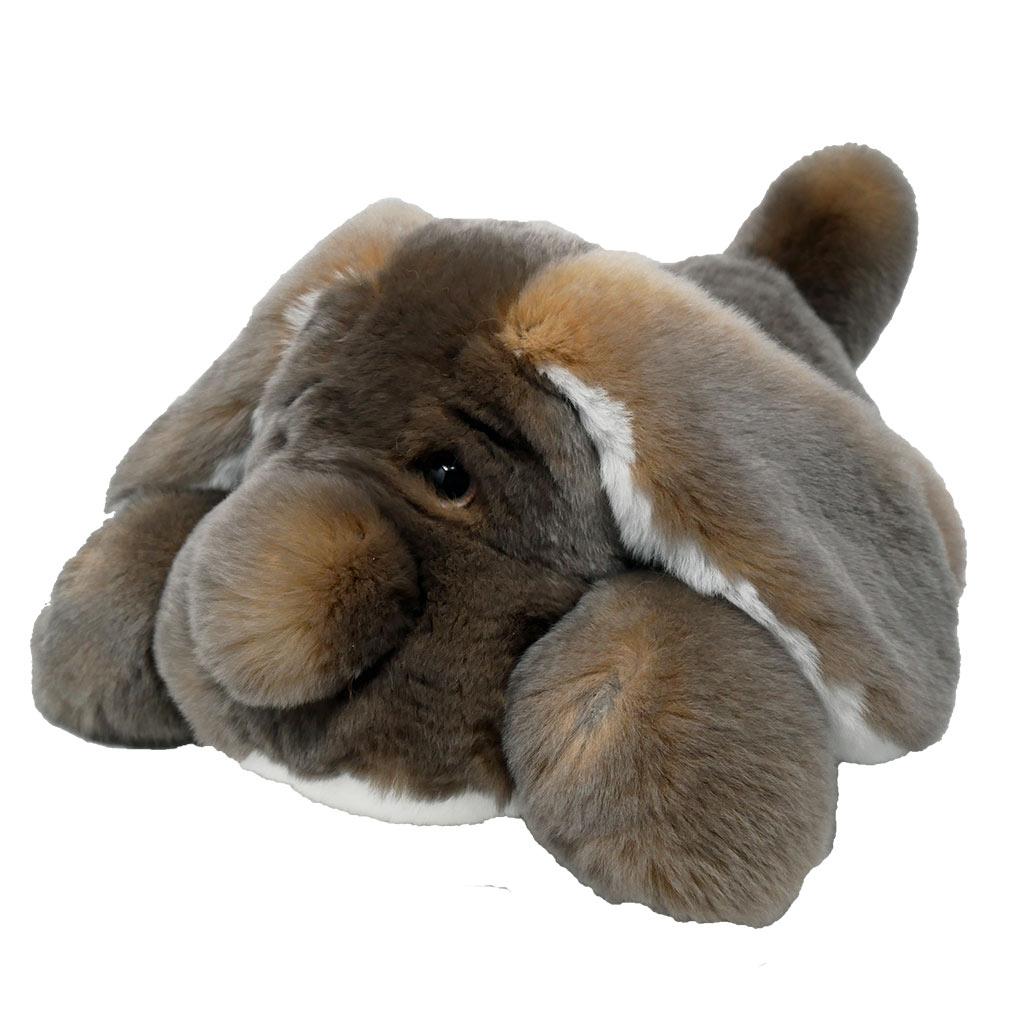 Peluche chien dormeur cendré M Caresse Orylag 2