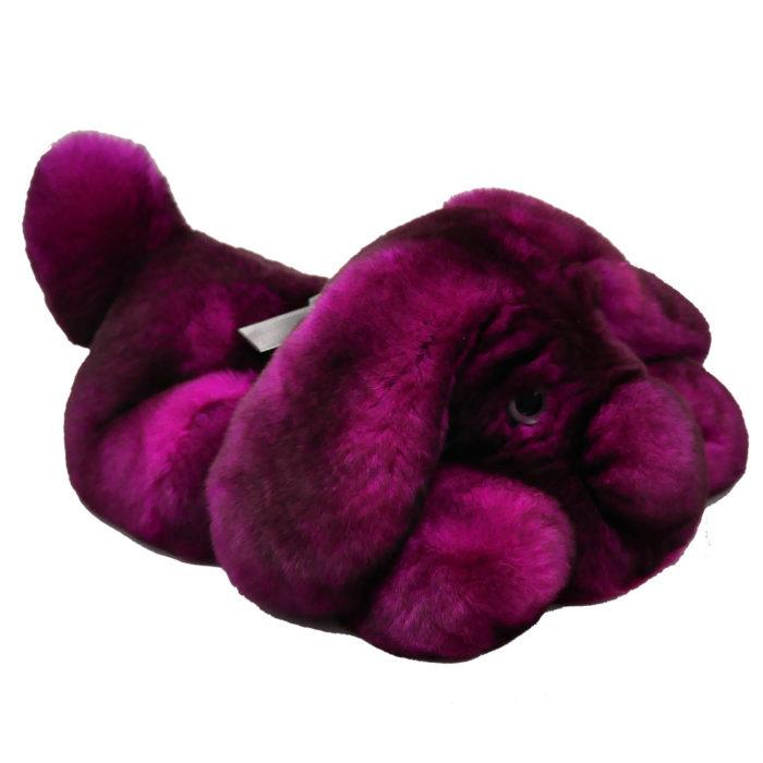 Peluche chien dormeur fushia S Caresse Orylag 2