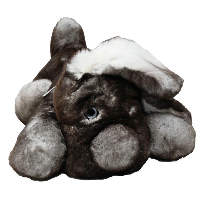 Peluche chien dormeur gris M Caresse Orylag 2