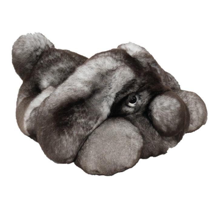Peluche chien dormeur gris S Caresse Orylag 2