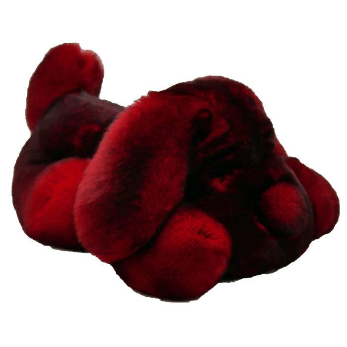 Peluche chien dormeur rouge S Caresse Orylag 2