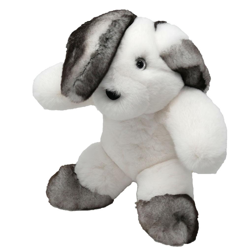 Peluche lapin blanc et gris S Caresse Orylag 3