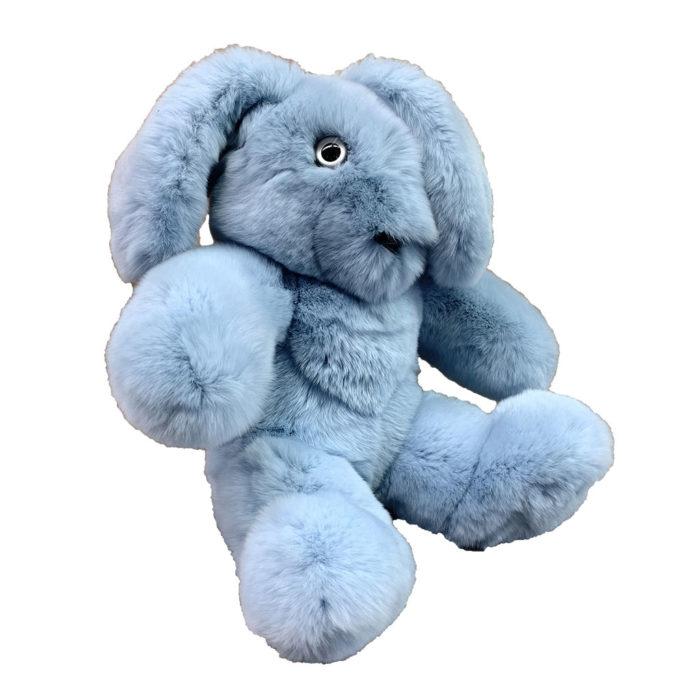 Peluche Lapin bleu ciel S Caresse Orylag 2