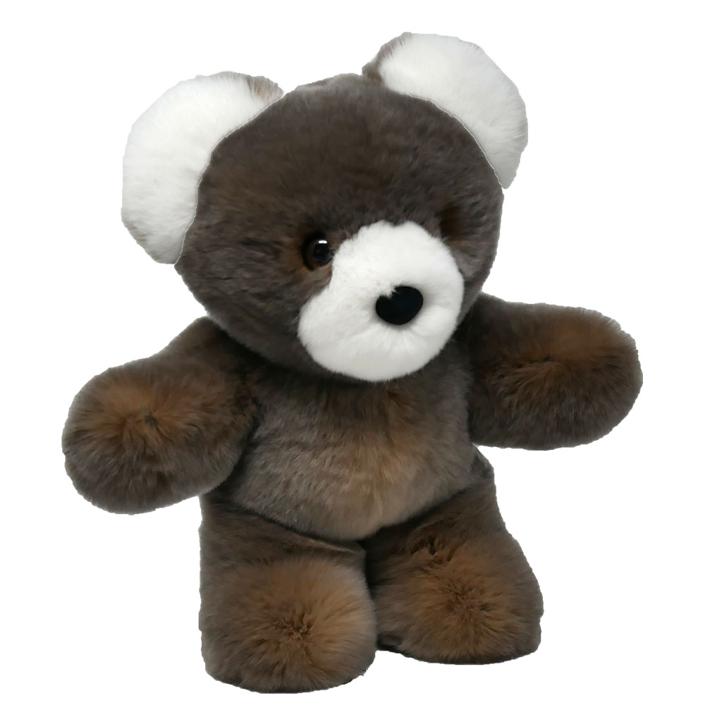 Peluche ours cendré S Caresse Orylag 2