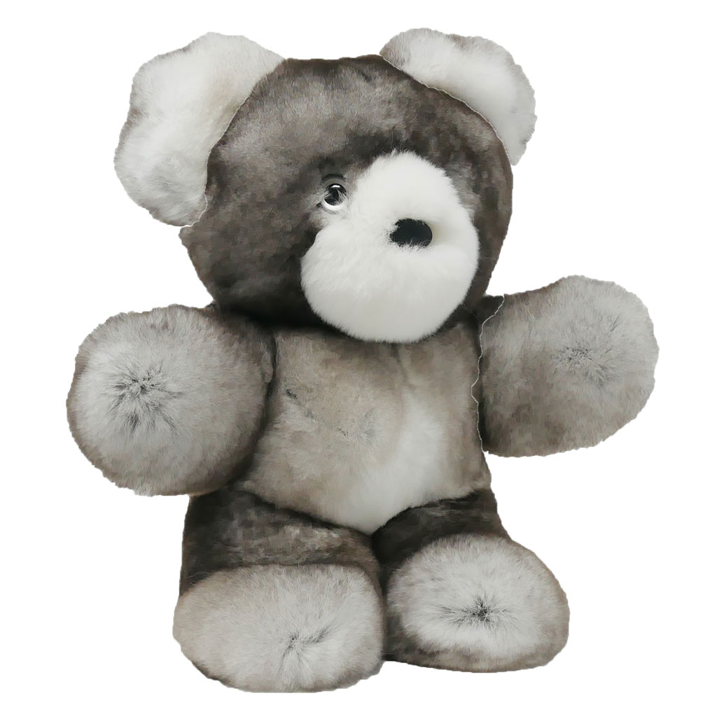 Peluche ours gris S Caresse Orylag 2