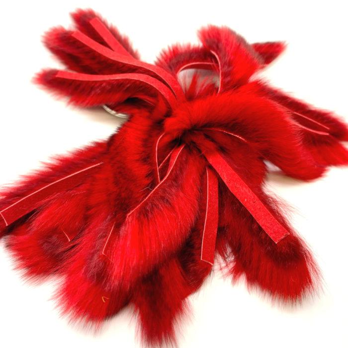 Porte-clés verso cuir rouge