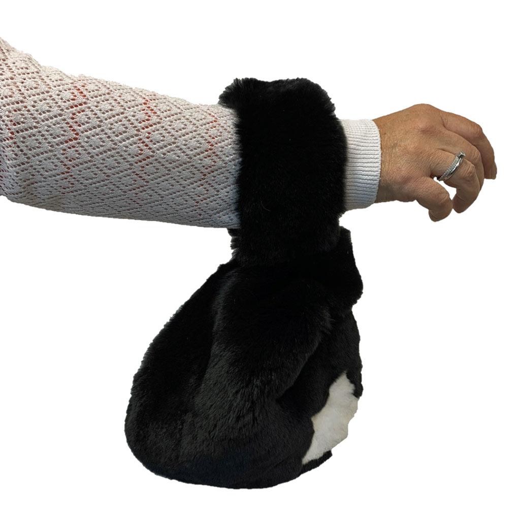 Sac Japonais porté noir étoile blanche Caresse Orylag