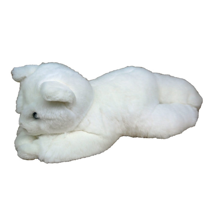 peluche chat blanc M caresse orylag 2