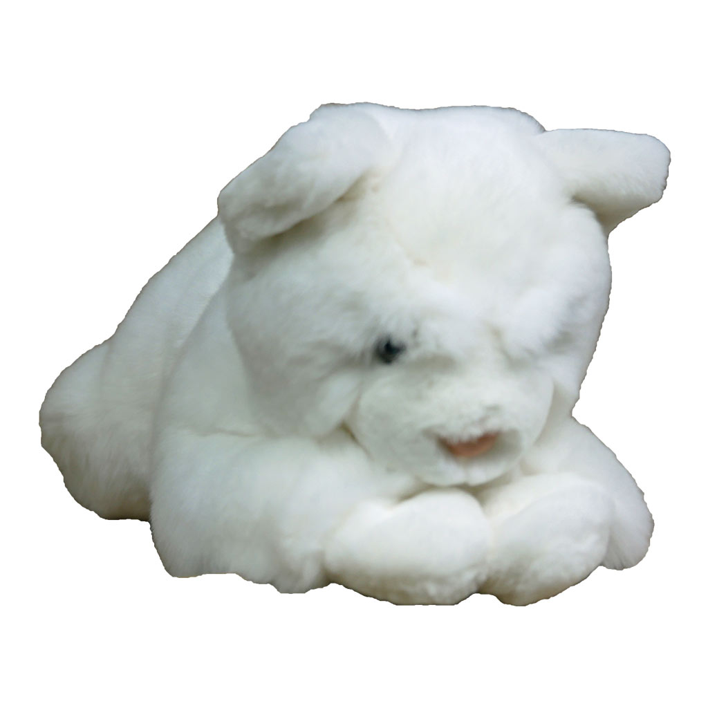 peluche chat blanc M caresse orylag 1