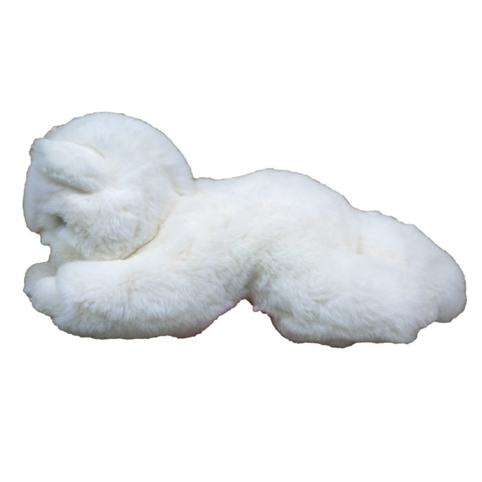 peluche chat blanc S caresse orylag 2