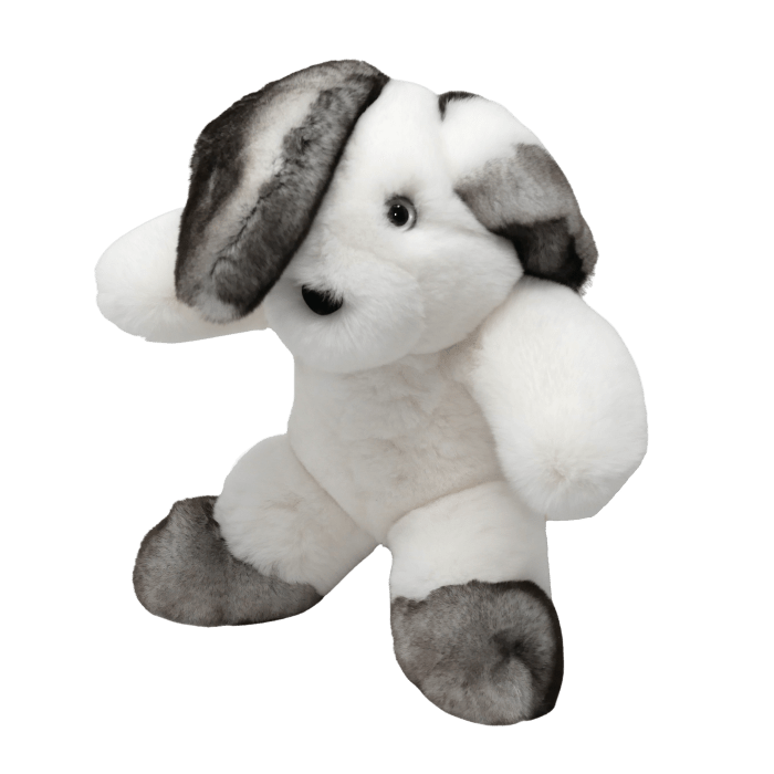 Peluche Lapin Blanc Gris Taille S profil Caresse d'Orylag