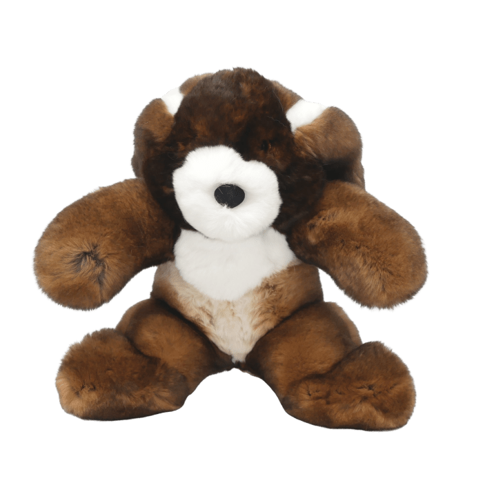 peluche lapin marron s face2 caresse orylag