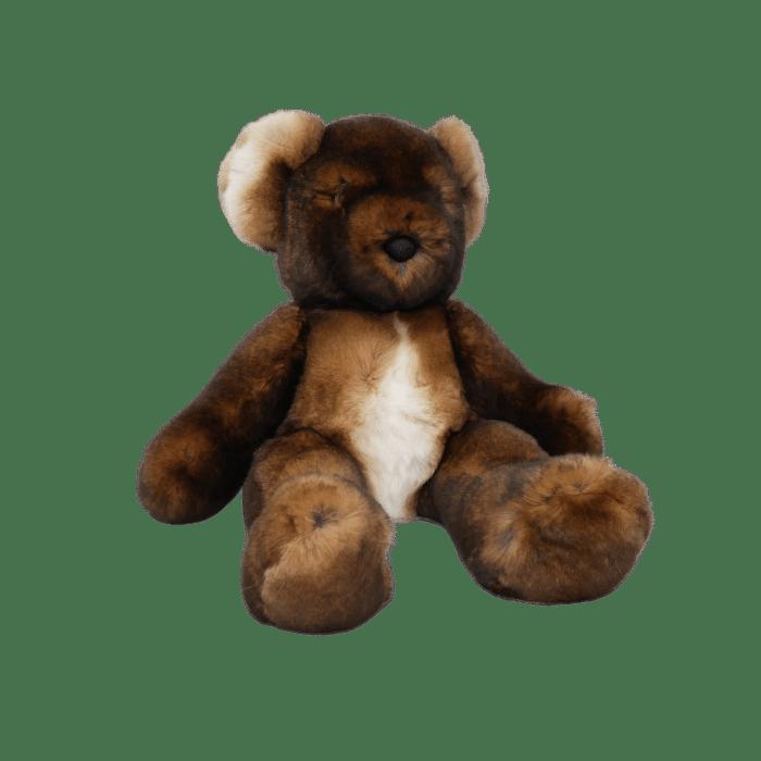 peluche ours teddy marron