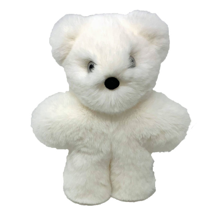 peluche ourson blanc xs caresse orylag 1