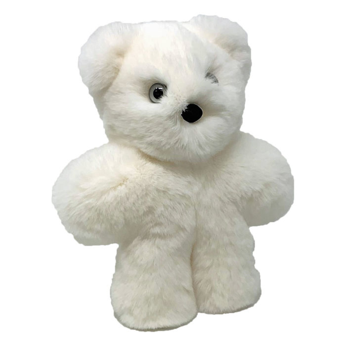 peluche ourson blanc xs caresse orylag 2