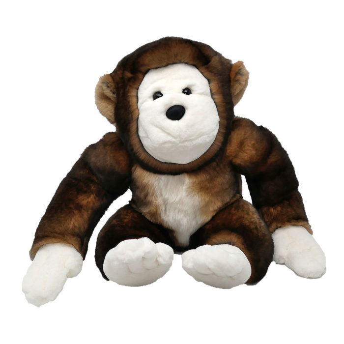peluche singe marron caresse orylag 1