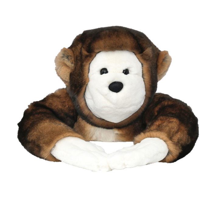 peluche singe marron caresse orylag 2