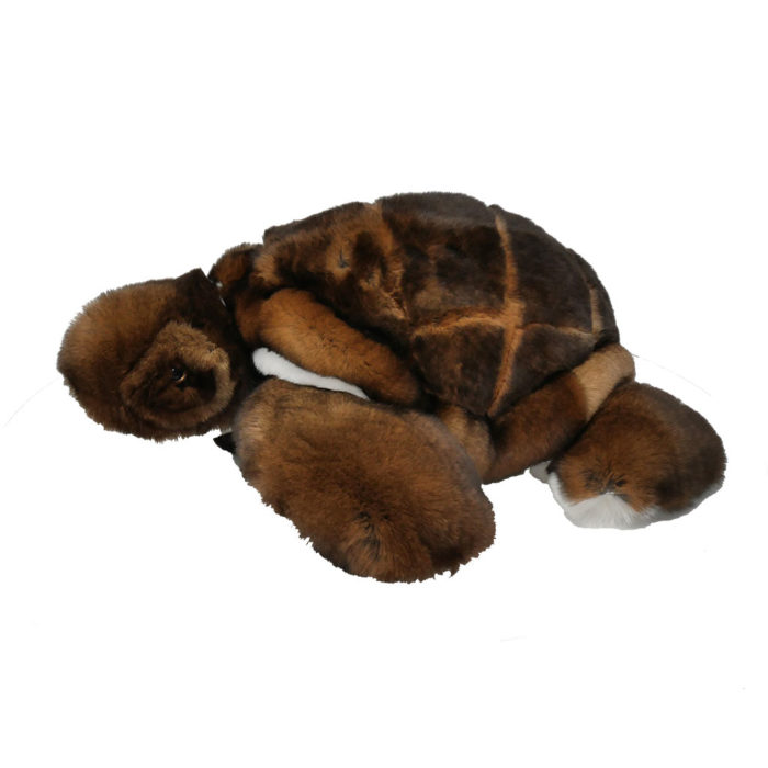 peluche tortue marron caresse orylag 2