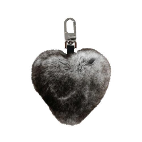 porte clés cœur gris caresse orylag 1