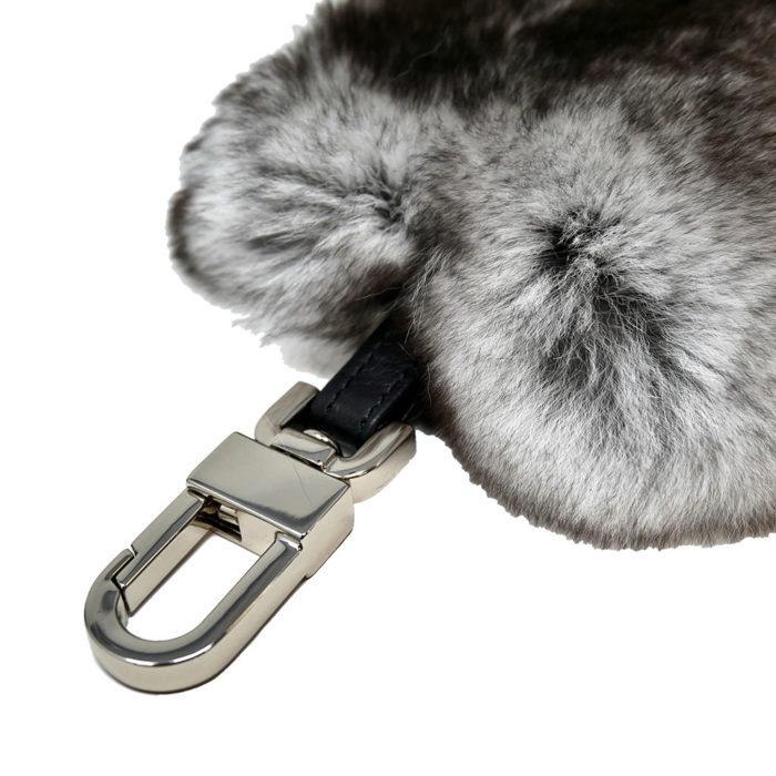 porte clés cœur gris caresse orylag 2