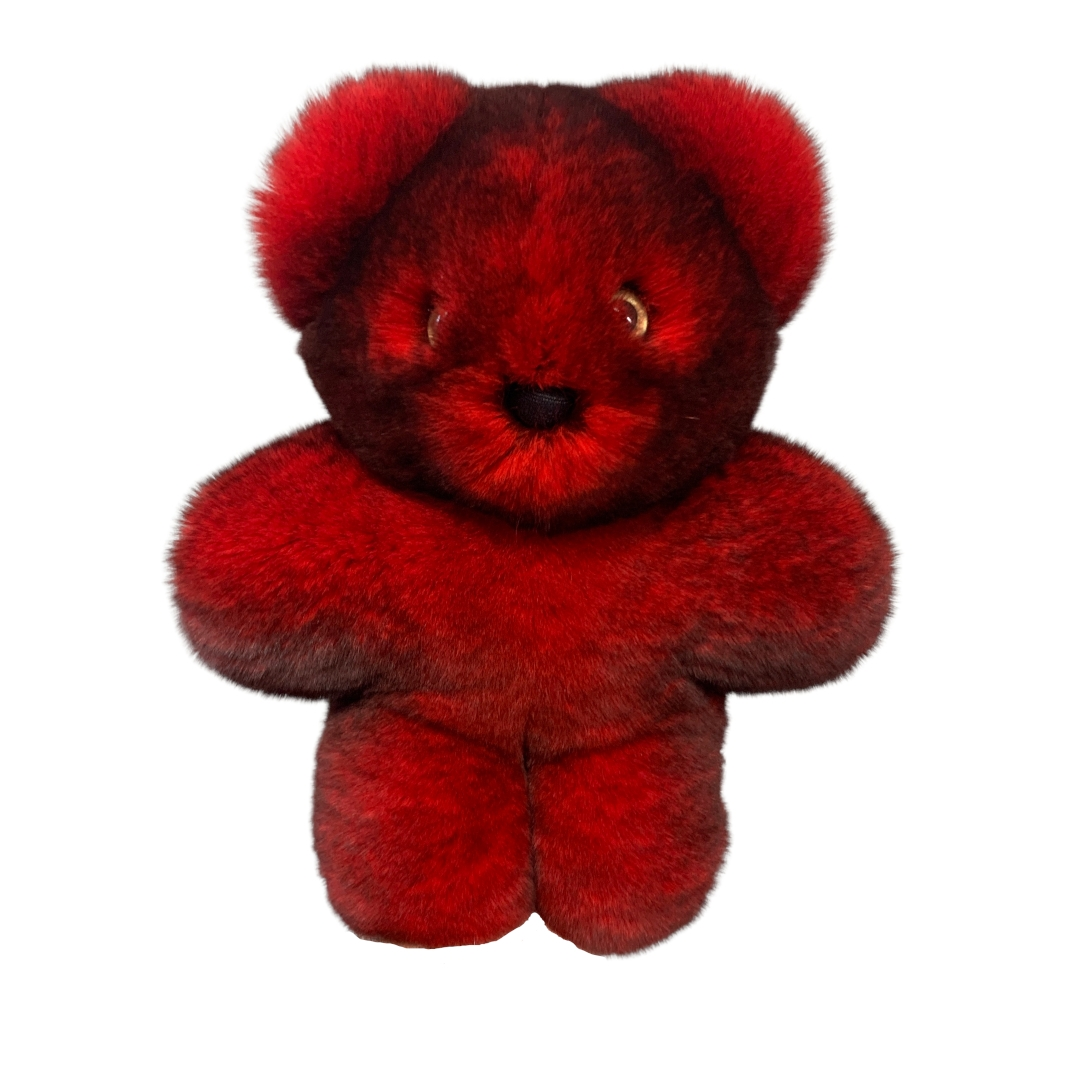 Peluche Ourson Rouge Caresse Orylag