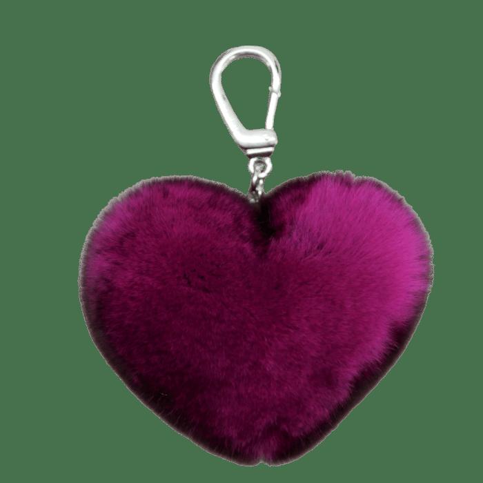 Porte clé Coeur Fuschia