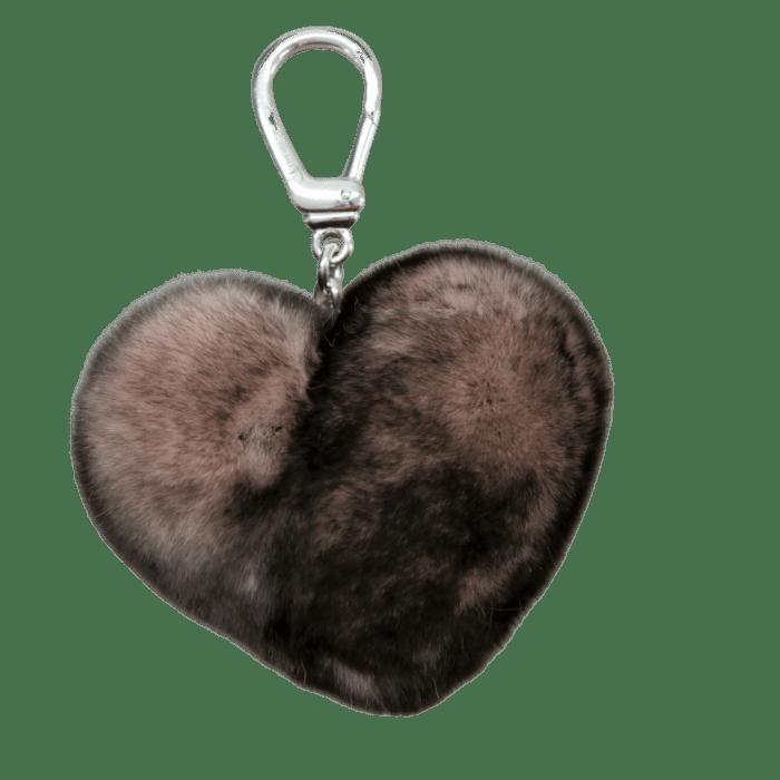Porté clé vieux rose pointe gris