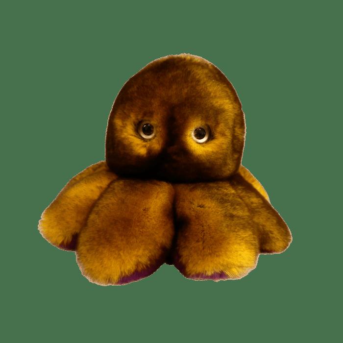 Peluche poulpe réversible 1 recto pistache