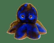 Peluche poulpe réversible 2_recto bleu electrique