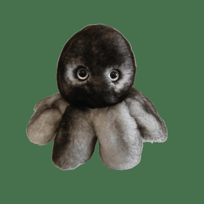 Peluche poulpe réversible 3 recto gris